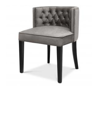 Silla de comedor Dearborn de Eichholtz con tapizado gris marsopa Roche