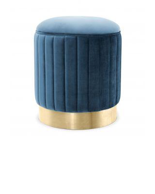 Taburete Allegra de Eichholtz con tapizado en terciopelo Roche azul