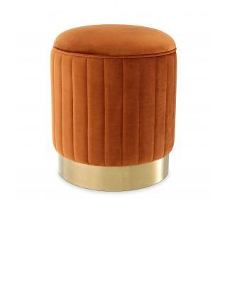 Taburete Allegra de Eichholtz con tapizado en terciopelo Roche naranja