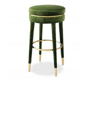Taburete de bar Parisian verde Catania de Eichholtz (78 cm)