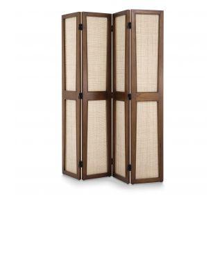 Biombo de 4 paneles Juliane con acabado Brown Classic de Eichholtz