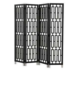 Biombo Geometric de color negro de Eichholtz