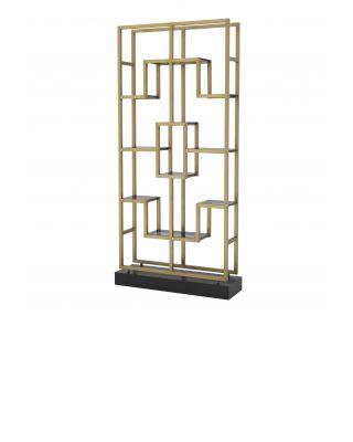 Estantería de diseño Lagonda de Eichholtz latón dorado