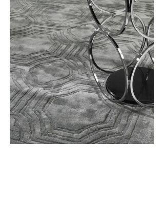 Alfombra 170 x 240 cm Harris de Eichholtz gris platino