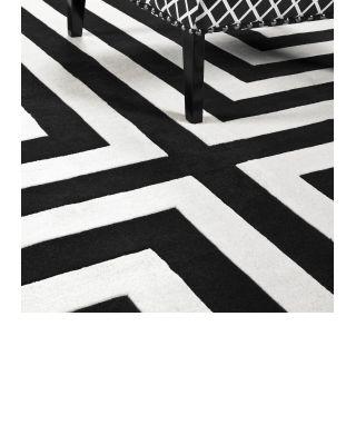 Alfombra 170 x 240 cm Thistle de Eichholtz negro y blanco