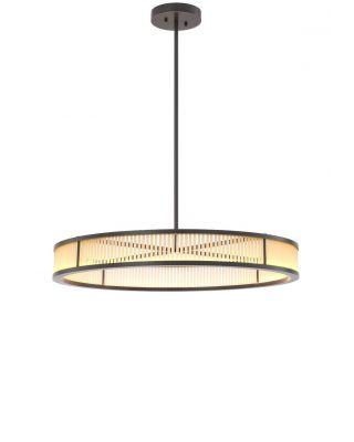 Lámpara colgante Thibaud L de Eichholtz acabado bronce