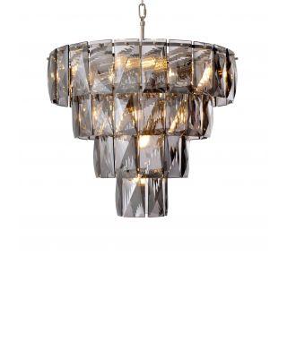 Lámpara de araña Amazone S de Eichholtz vidrio ahumado