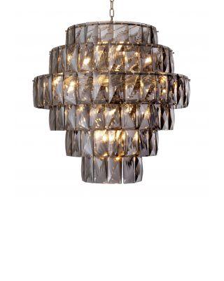 Lámpara de araña Amazone L vidrio ahumado de Eichholtz