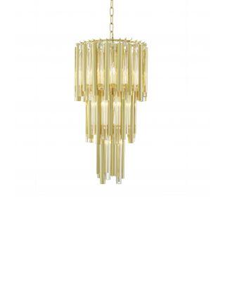 Lámpara de araña dorada Gigi S de Eichholtz