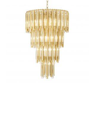Lámpara de araña dorada Gigi L de Eichholtz