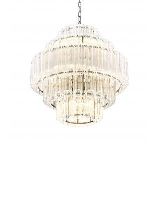 Lámpara de araña Vittoria S de Eichholtz acabado niquelado