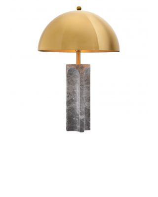 Lámpara de sobremesa Absolute de Eichholtz con acabado de latón y mármol