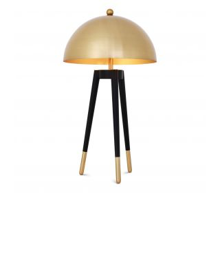 Lámpara de sobremesa dorada Coyote de Eichholtz