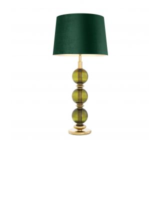 Lámpara des sobremesa Fondoro cristal verde