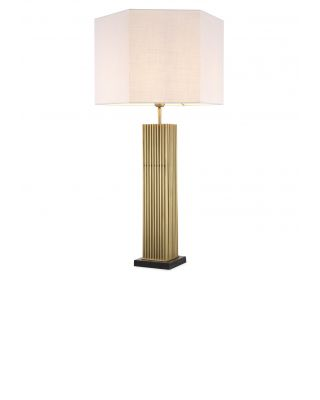 Lámpara de mesa dorada Viggo de Eiccholtz