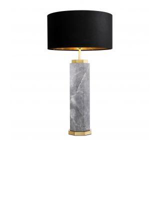 Lámpara de sobremesa Newman de Eichholtz de mármol gris