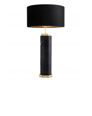 Lámpara de sobremesa Newman de Eichholtz de mármol negro