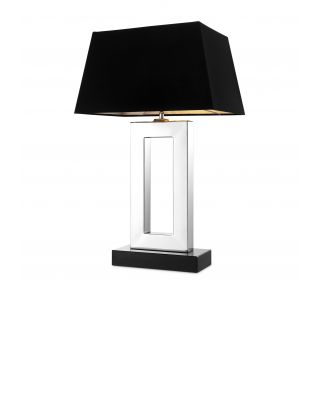 Lámpara de mesa plateada Arlington de Eichholtz