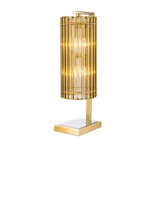 Lámpara de mesa dorada Pimlico de Eichholtz