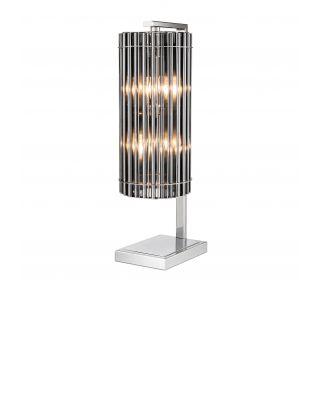 Lámpara de mesa niquelada Pimlico de Eichholtz