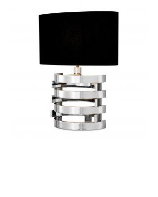 Lámpara de mesa Boxter S niquelada de Eiccholtz