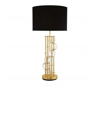 Lámpara de mesa Lorenzo de Eichholtz con pantalla negra