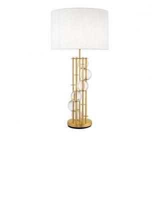 Lámpara de mesa Lorenzo de Eichholtz con pantalla blanca