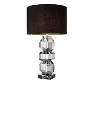 Lámpara de mesa Mornington, de Eichholtz en cristal tallado