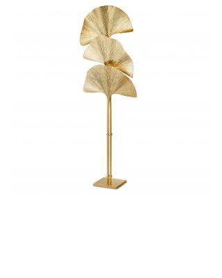 Lámpara de pie de latón dorado Las Palmas de Eichholtz