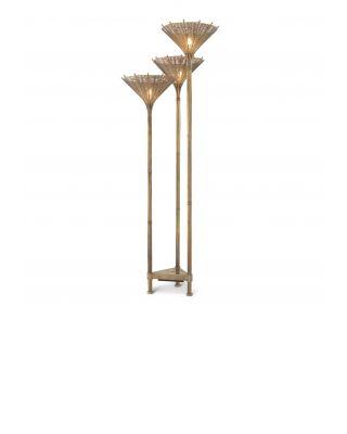 Lámpara de pie Kon Tiki triple de Eichholtz