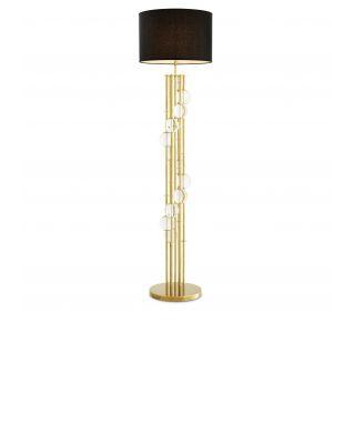 Lámpara de pie dorada y negra Lorenzo de Eichholtz
