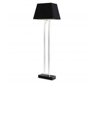 Lámpara de pie plateada Arlington de Eichholtz