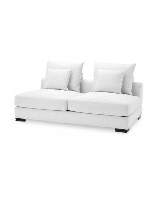 Sofá modular de 2 plazas Clifford blanco Avalon de Eichholtz