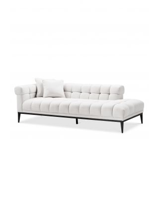 Sofá Aurelio lounge izquierdo de Eichholtz blanco Avalon