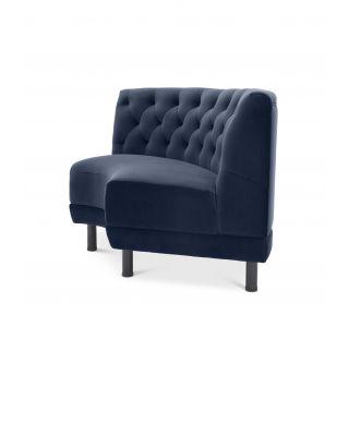 Sofá de esquina Rochdale con tapizado azul medianoche Savona