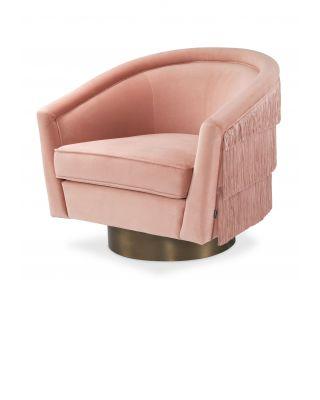 Sillón giratorio Le Vante terciopelo rosa encarnada