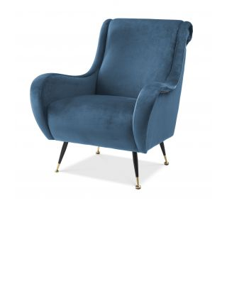 Sillón Gardino azul Roche de Eichholtz