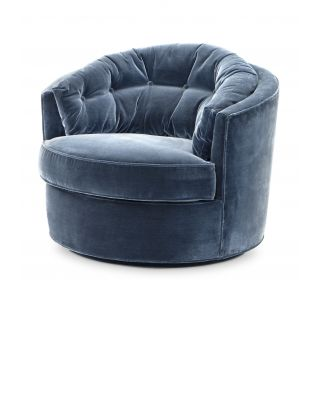 Sillón Recla de Eichholtz color azul Cameron