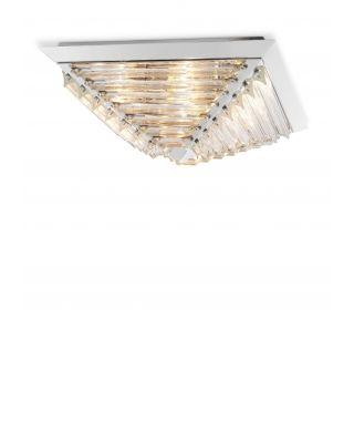 Lámpara de techo plateada Eden de Eichholtz