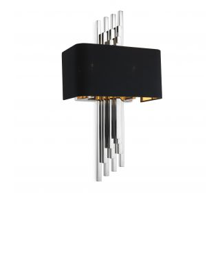 Lámpara de pared Caruso con acabado niquelado de Eichholtz