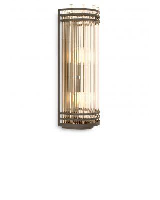 Lámpara de pared Gulf L de Eichholtz con acabado de bronce
