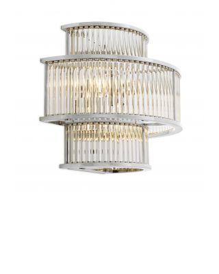 Lámpara de pared Mancini de Eichholtz con acabado niquelado