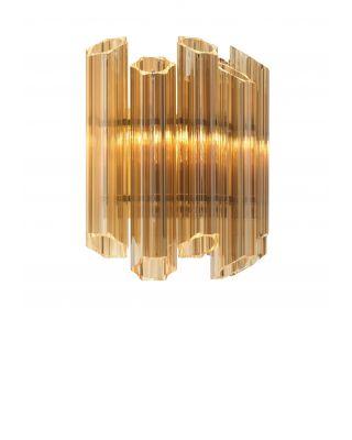 Lámpara de pared Vittoria de Eichholtz acabado ámbar dorado
