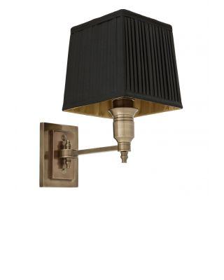 Lámpara de pared Lexington de Eichholtz acabado latón antiguo con pantalla negra