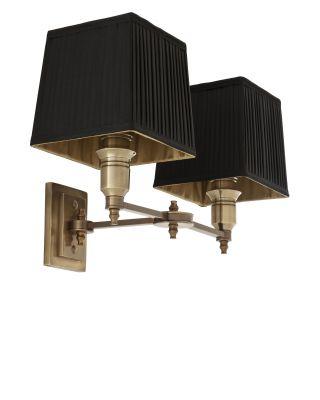 Lámpara de pared doble Lexington de Eichholtz con pantallas negras
