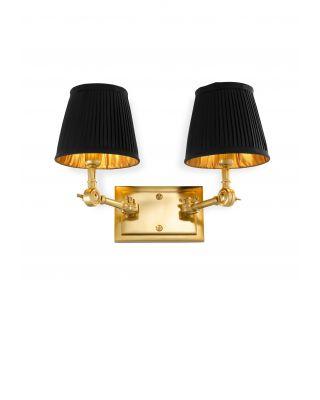 Lámpara de pared Wentworth doble dorada de Eichholtz