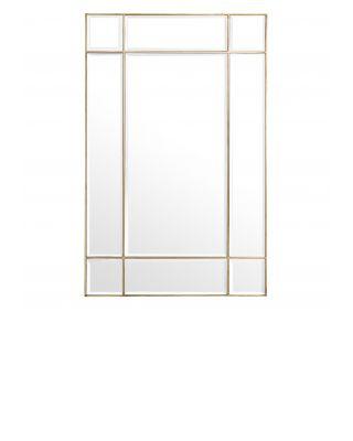 Espejo Beaumont acabado latón vintage 140 cm