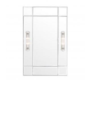 Espejo Beaumont niquelado con apliques integrados