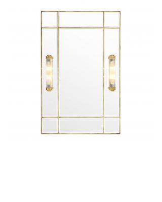 Espejo Beaumont dorado con apliques integrados