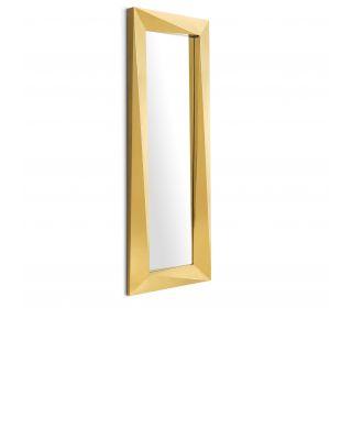 Espejo Rivoli rectangular acabado dorado